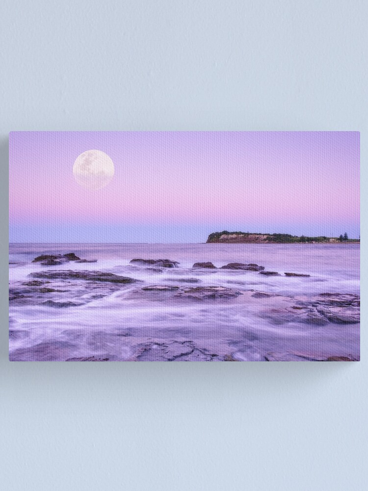 Alternate view of Long Reef Under Lilac Sky Canvas Print