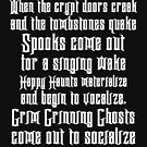 Haunted Mansion Grim Grinning Ghosts Lyrics (white text) by Hip2BeSquare