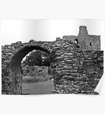 Norham Castle (B&W) Poster