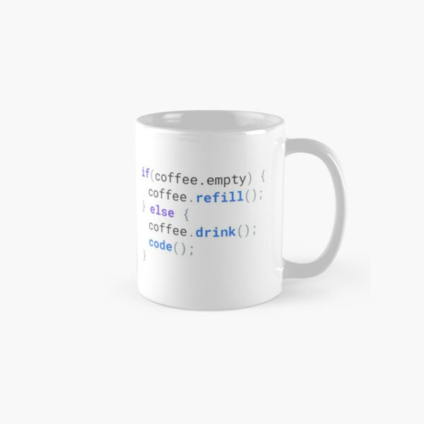 Funny Code Coffee Mug for Developers and Programmers - LIGHT Classic Mug