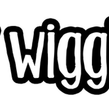 I heart wiggle butts decal sticker with black outline by smooshfaceutd