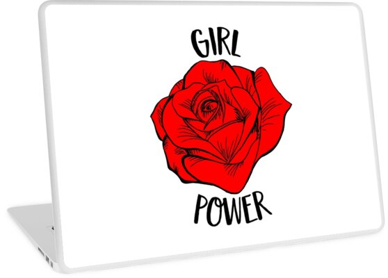 Girl Power Gift For Woman Cool Red Rose Feminist Gift by suvil