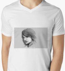 Tricia Helfer, Caprica 6, Battlestar Galatica '04 Mens V-Neck T-Shirt