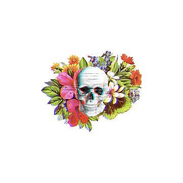 Flower Skulls by D-Taurus