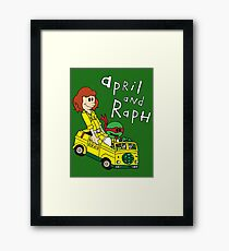April and Raph Framed Print