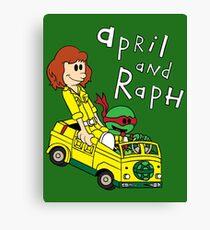April and Raph Canvas Print