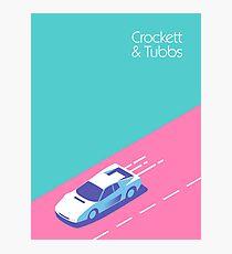 Crockett & Tubbs - Aqua Fotodruck