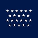 22-Star American Flag, Alabama, Evry Heart Beats True by EvryHeart