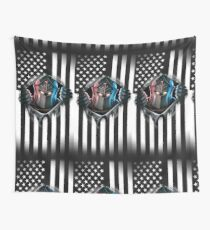 Black Knight American Flag Version 2 Wall Tapestry