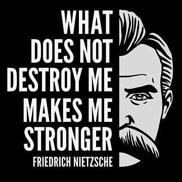 Friedrich Nietzsche Quote: What Does Not Destroy Me by elvindantes
