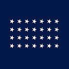 28-Star American Flag, Texas, Evry Heart Beats True by EvryHeart