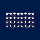 32-Star American Flag, Minnesota, Evry Heart Beats True by EvryHeart