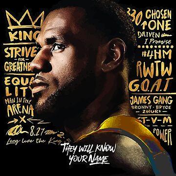 G.O.A.T  - LA Lakers Lebron James 2 by RLVantagePoint