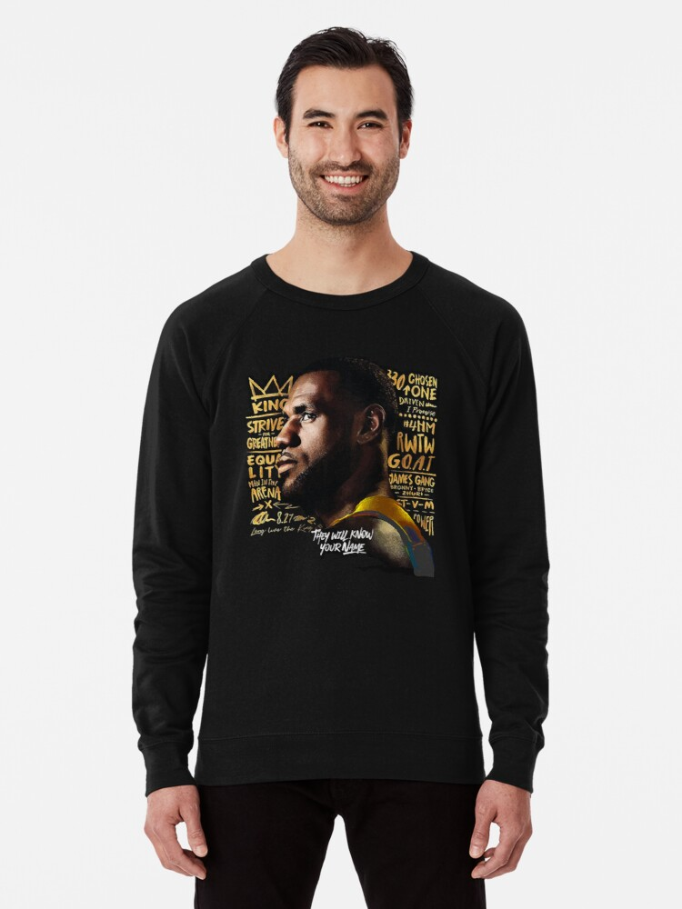 outlet store 2f04a 9cca5 'G.O.A.T - LA Lakers Lebron James 2' Lightweight Sweatshirt by  RLVantagePoint