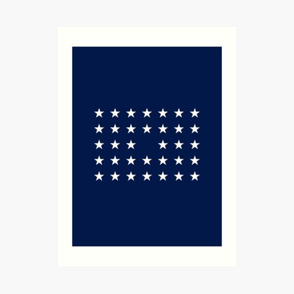 34-Star American Flag, Kansas, Evry Heart Beats True Art Print