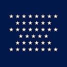 41-Star American Flag, Montana, Evry Heart Beats True by EvryHeart