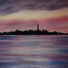 """Scattery Island - October Sunset"" - Oil Painting by Avril Brand"