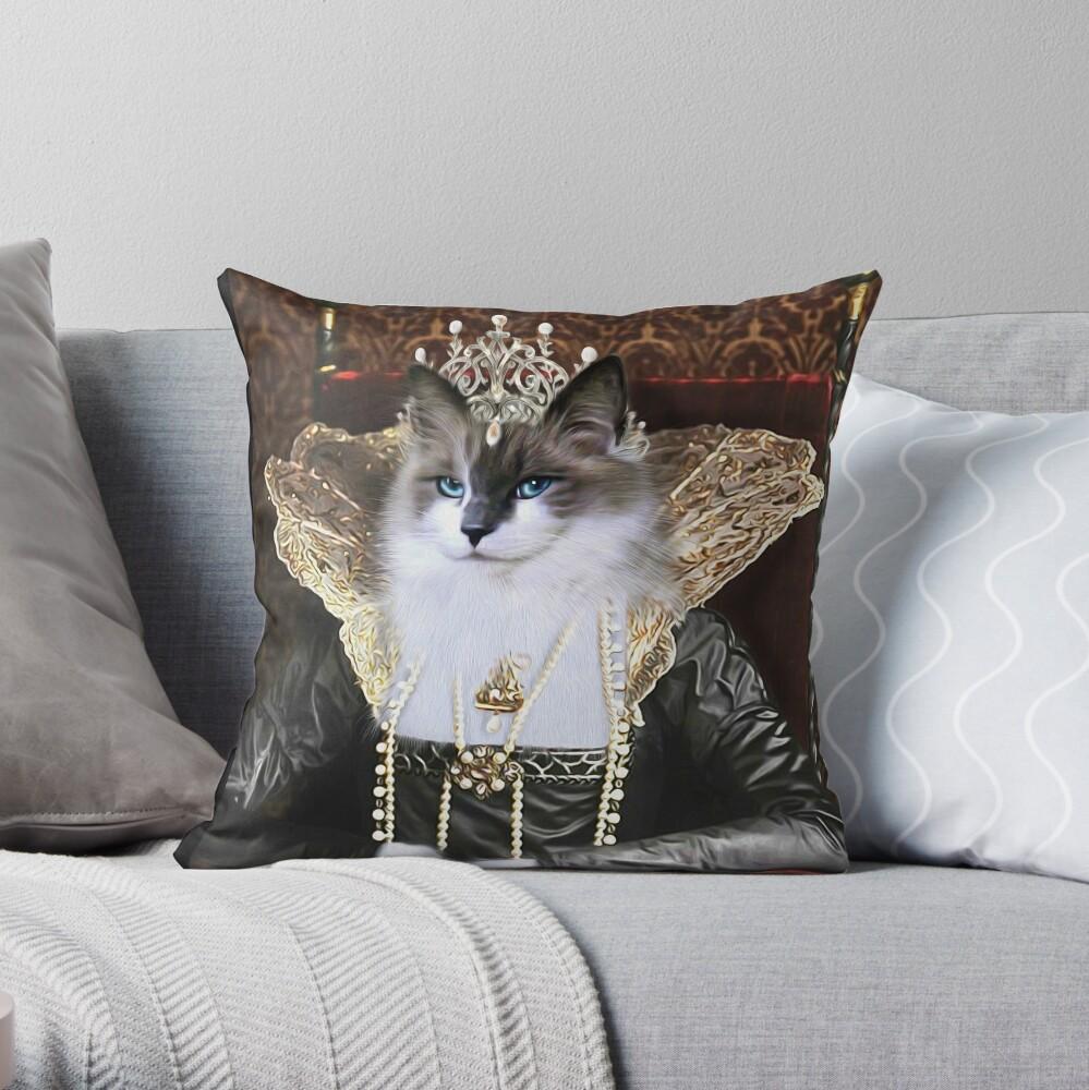 Cat Portrait - Skyler Throw Pillow