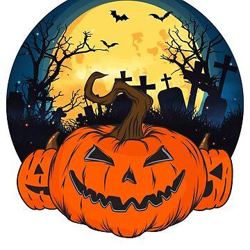 Vintage Scary Pumpkin Head - Jack o Lantern Face Tshirt by drlayson