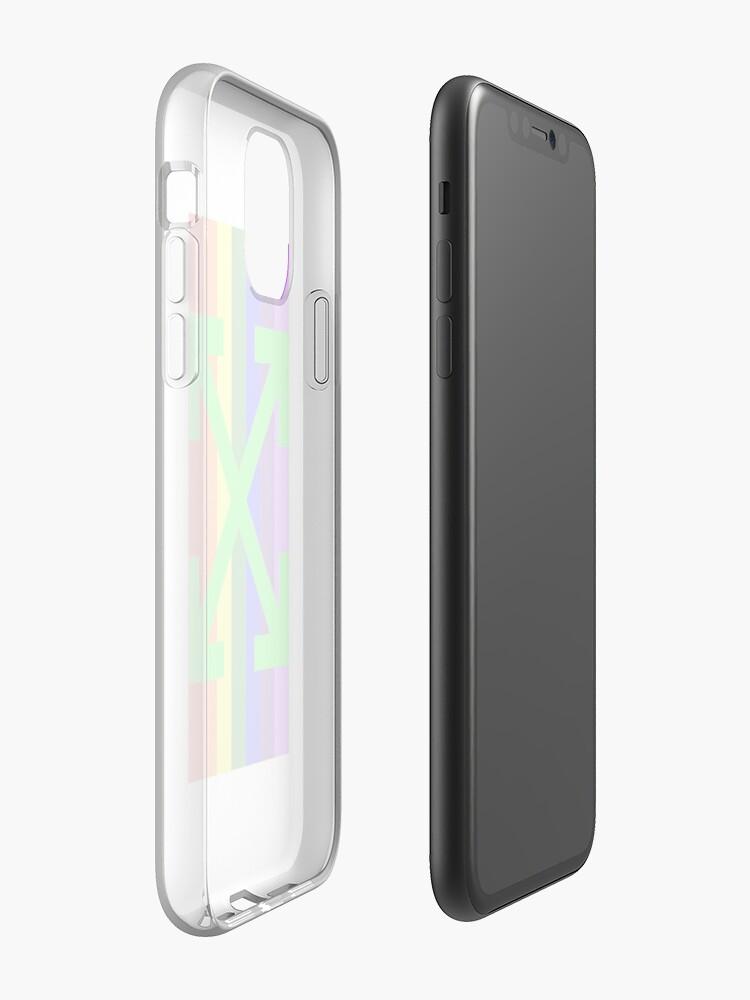 Coque iPhone «Arc-en-ciel inspiré du blanc cassé», par thegoodzhut