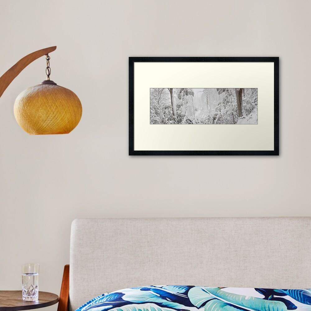 Snowy Trees, Alpine National Park, Victoria, Australia Framed Art Print