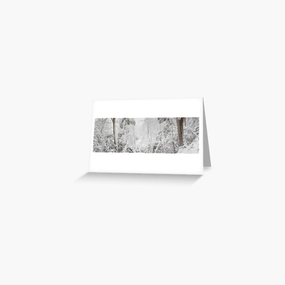 Snowy Trees, Alpine National Park, Victoria, Australia Greeting Card