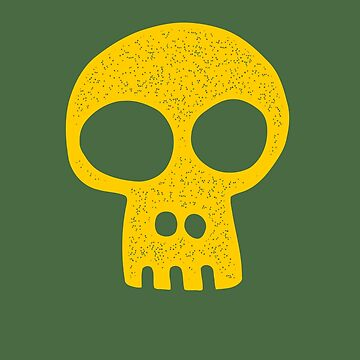 Yellow Spotted Skull by AaronKinzer