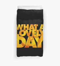 What a lovely day v.2 Duvet Cover