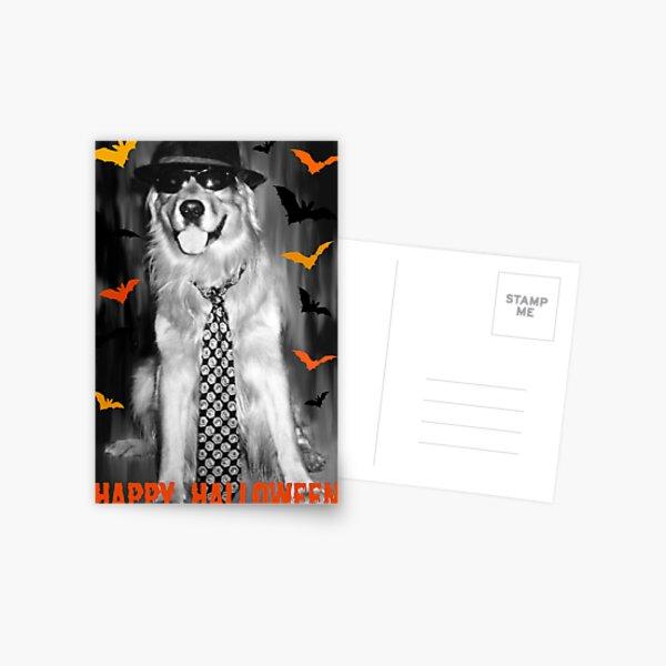 Happy Howl-o-weeen RuffRuffRoooooo! Postcard