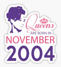 It's My Birthday 14. Made In November 2004. 2004 Gift Ideas. Sticker