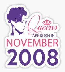 It's My Birthday 10. Made In November 2008. 2008 Gift Ideas. Sticker