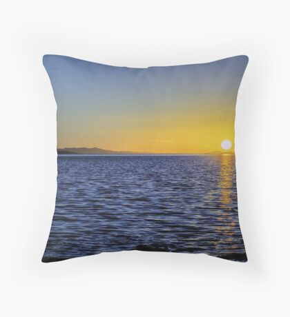 Sunset at The Great Salt Lake III Throw Pillow