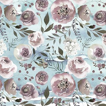 Floral Watercolour Roses Peonies P10 | BLOOMS - FLORALS - GREENERY by mcaussieb