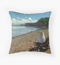 Cape Blomidon Beach Throw Pillow