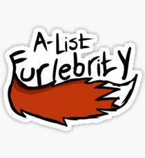 Furlebrity: A-lister Sticker