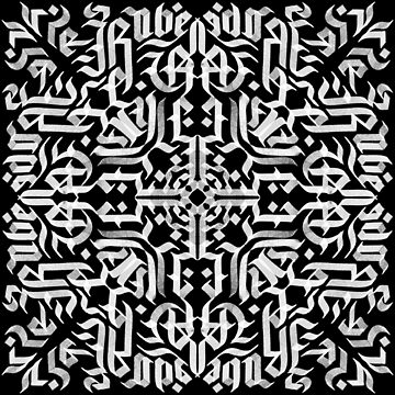 Blackletter Calligraphy Pattern by Thir