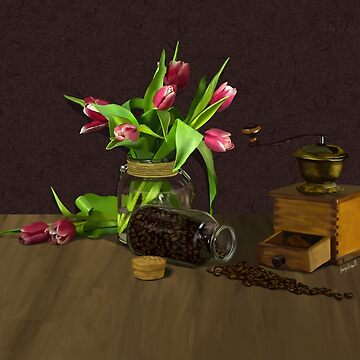 Tulips and Coffee by Brinjen