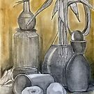 Still Life in B+W and Sun Gold  by Karen Gingell