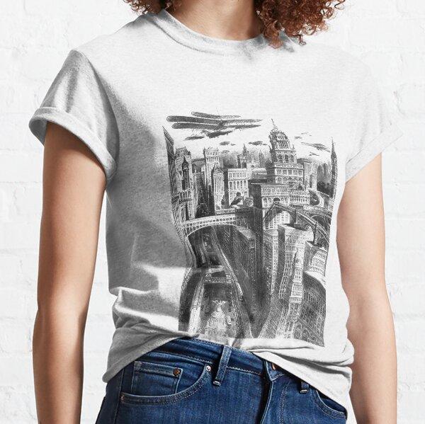 #city #architecture #church #building #newyork #blackandwhite #skyline #urban #cathedral #old #italy #landmark #cityscape #newyorkcity #religion #buildings #travel #tower #london #manhattan #drawing Classic T-Shirt