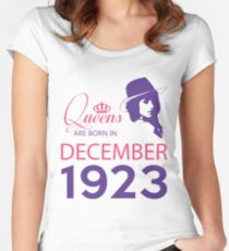 It's My Birthday 95. Made In December 1923. 1923 Gift Ideas. Women's Fitted Scoop T-Shirt