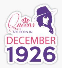 It's My Birthday 92. Made In December 1926. 1926 Gift Ideas. Sticker