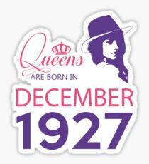 It's My Birthday 91. Made In December 1927. 1927 Gift Ideas. Sticker