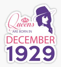 It's My Birthday 89. Made In December 1929. 1929 Gift Ideas. Sticker