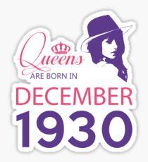 It's My Birthday 88. Made In December 1930. 1930 Gift Ideas. Sticker