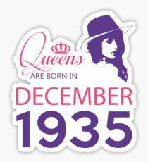 It's My Birthday 83. Made In December 1935. 1935 Gift Ideas. Sticker