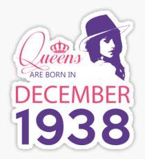 It's My Birthday 80. Made In December 1938. 1938 Gift Ideas. Sticker