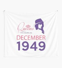 It's My Birthday 69. Made In December 1949. 1949 Gift Ideas. Wall Tapestry