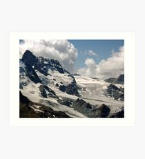 Matterhorn Valley mountains Art Print