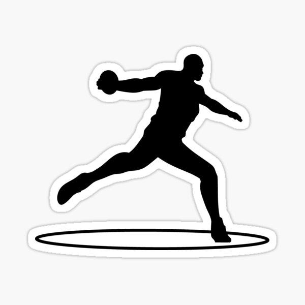 discus thrower Sticker
