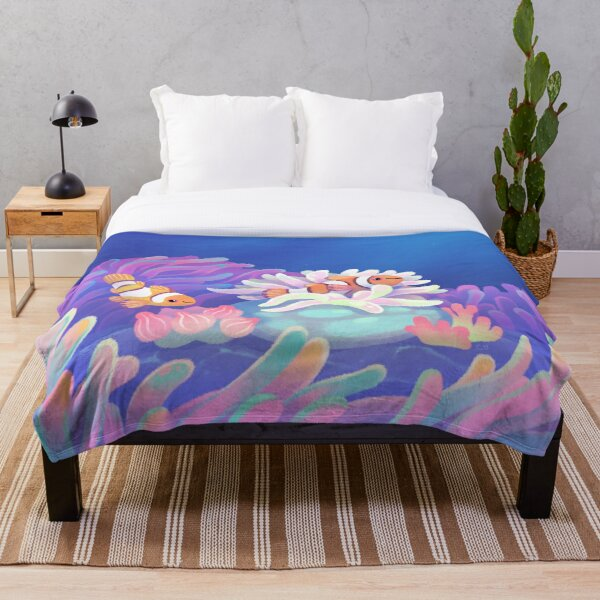 Anemone home Throw Blanket